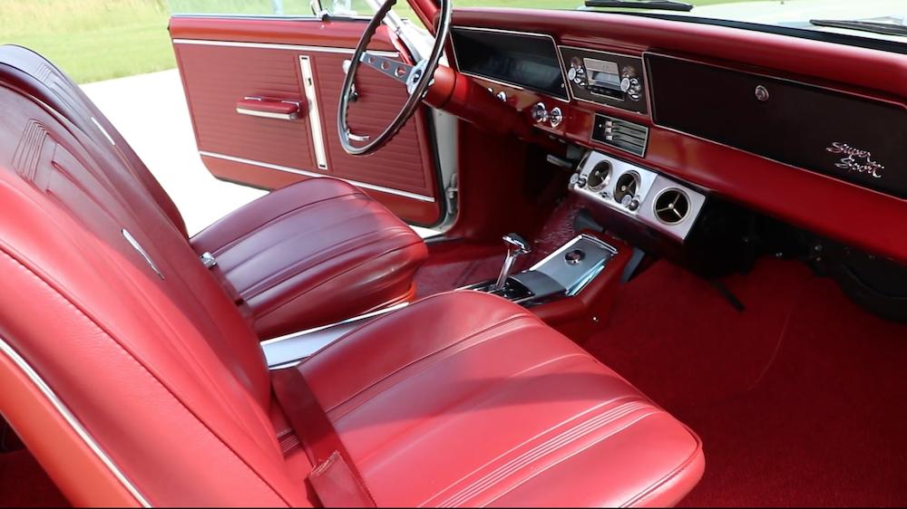1966 Nova SS Red Interior